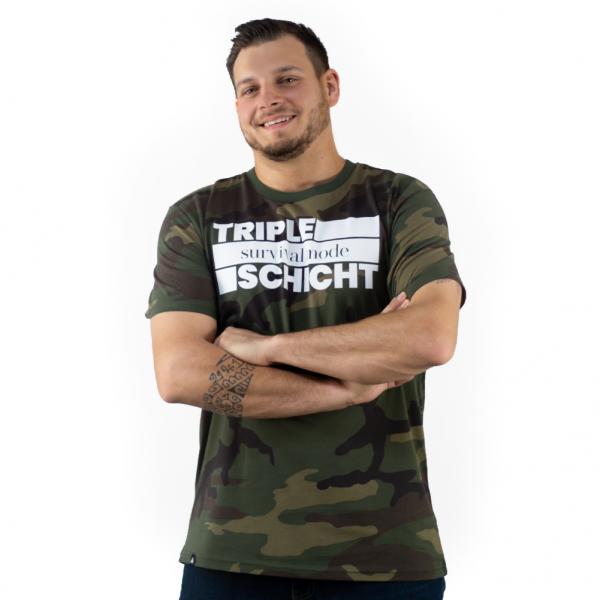 tripleschicht Survival Mode Camouflage - T-Shirt